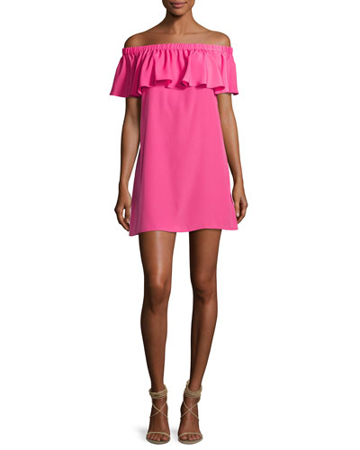 Cicero Off-the-Shoulder Dress, Pink