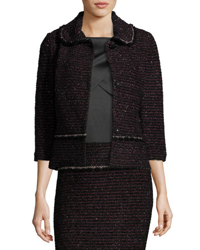 Shimmer Two-Tone Tweed Jacket