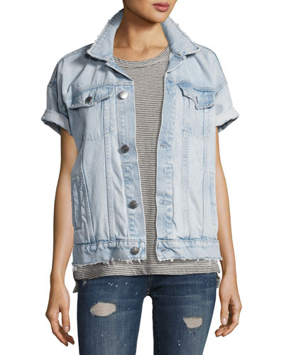 The Rolled Sleeve Trucker Jacket, Indigo