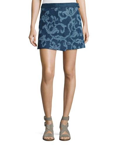 Marina Jean Mini Skirt, Indigo
