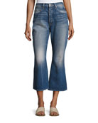 Rigid Release Le Crop Flare Denim Jeans, Blue