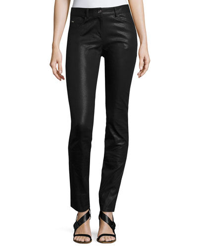 Bardot Coated Denim Slim Jeans, Black