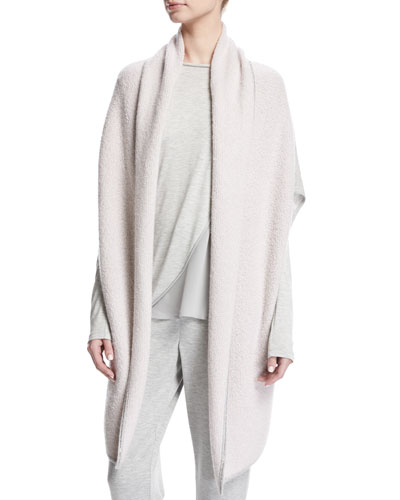 Jersey Cashmere Shawl-Collar Cardigan W/ Sequins Trim