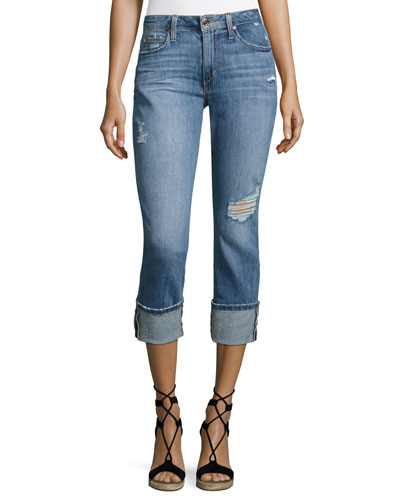 Clean 4 Skinny Crop Denim Pants, Indigo