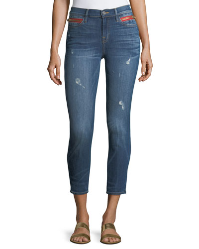 Kendall High-Waist Cropped Skinny Jeans