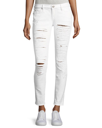 Casey Low-Rise Super Skinny Distressed Jeans