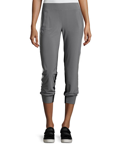 Side-Stripe Jog Pants, Gray