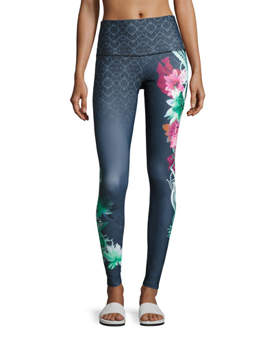 Onzie High-Rise Graphic Legging, Black Pattern