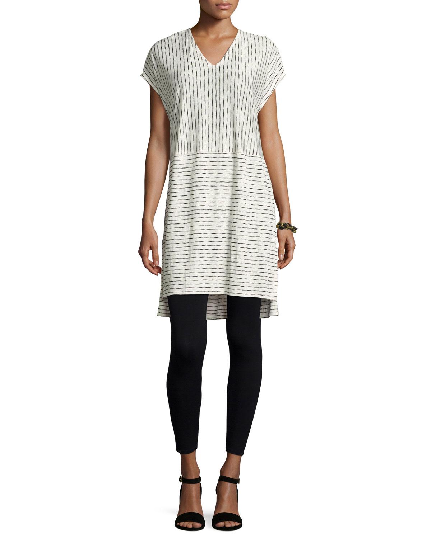 Painterly Organic Linen Tunic