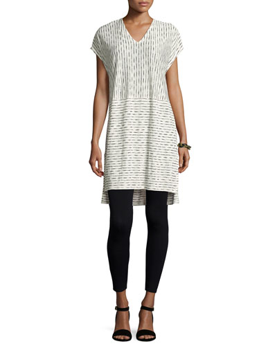 Painterly Organic Linen Tunic, Petite
