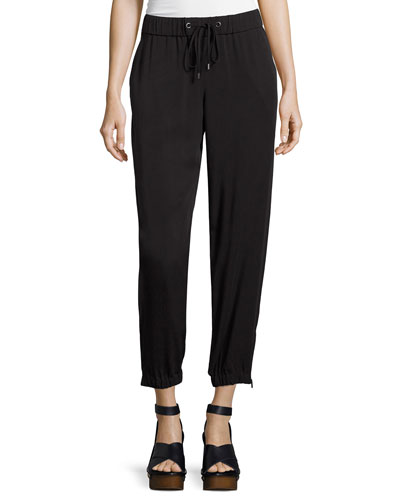Tencel® Twill Drawstring Pants, Plus Size