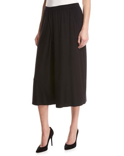 Lightweight Jersey Culottes, Black, Petite
