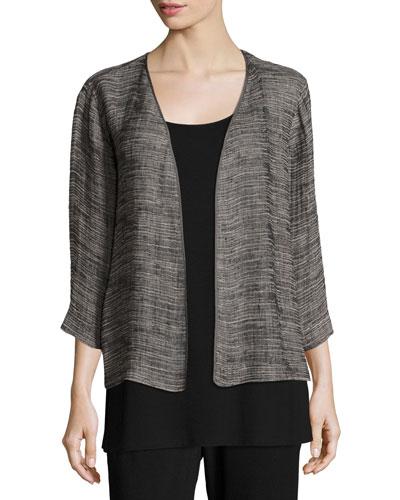 Strata Kimono 3/4-Sleeve Jacket, Plus Size