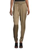 Barclay Ribbed-Waist Pants