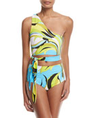 Fiore Maya One-Shoulder Two-Piece Bikini Set