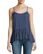 Madelyn Printed Tank Top, Blue