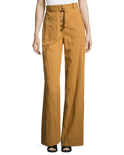 Cream Wide Leg Pants | Neiman Marcus