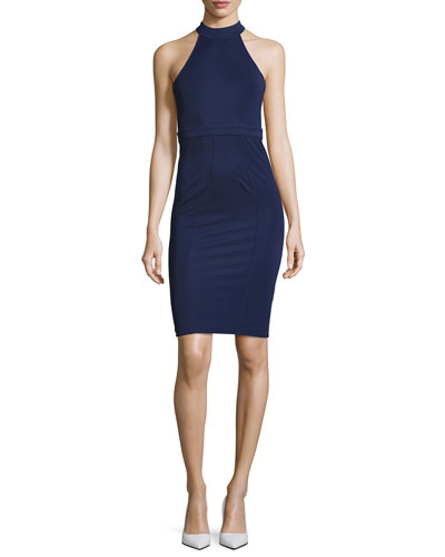 Alix Halter Sheath Dress