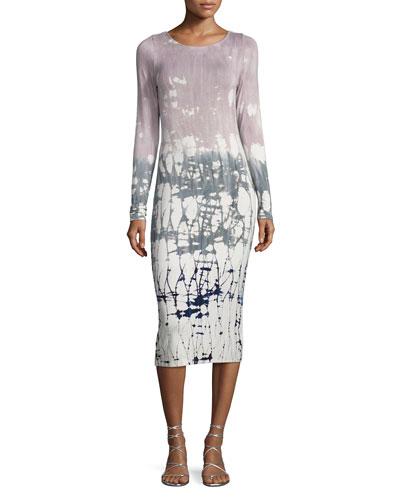 Karlyn Long Sleeve Midi Dress