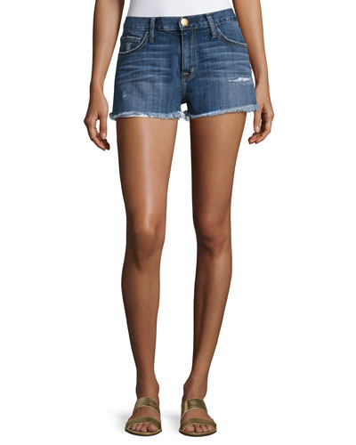 The Boyfriend Cutoff Shorts W/ Raw-Edge Hem