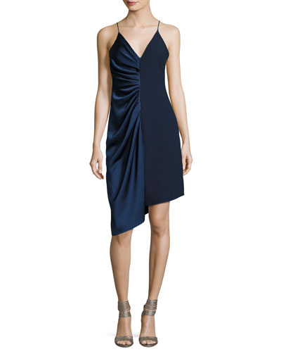 Sleeveless V-Neck Satin Slip Dress