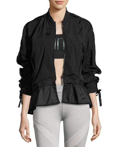 Xtreme Frill Bomber Jacket, Black