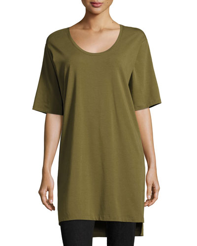 Scoop-Neck Jersey Tunic, Plus Size