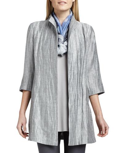 Washable Crinkle Sheen Jacket, Plus Size