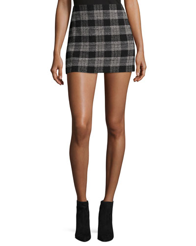Elana Plaid Mini Skirt