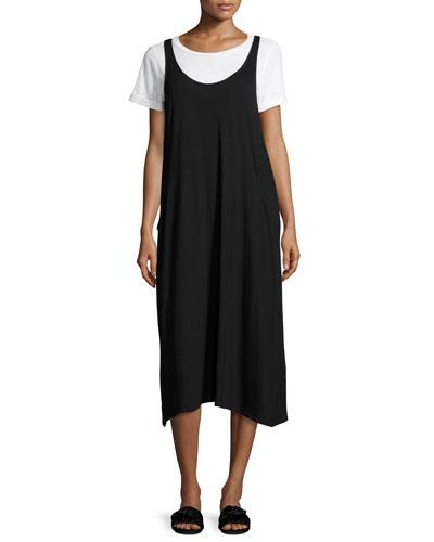 Lightweight Viscose Jersey Jumper Dress, Black, Petite
