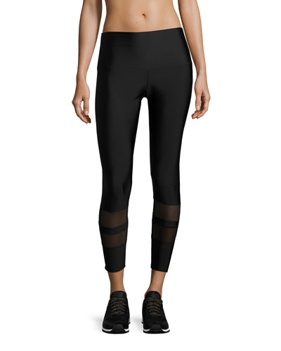 7/8 Racer Performance Leggings, Black