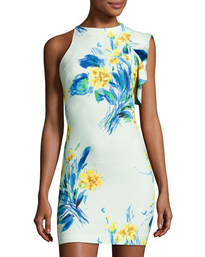 Pabla Sleeveless Floral Jersey Cocktail Dress, Something Borrowed