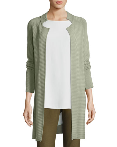 Sleek Tencel Knit Jacket, Plus Size