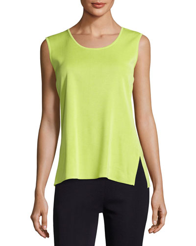 Scoop-Neck Sleeveless Tank, Plus Size