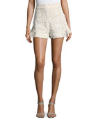 Barron Lace High-Waist Shorts