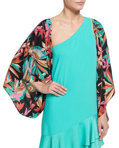 Exquisite Floral Silk Jacket, Black