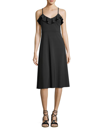 Nifty Sleeveless Stretch Jersey Dress, Black