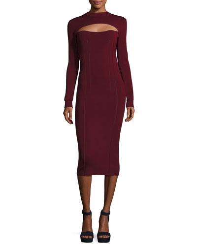 Body-Con Long-Sleeve Dress