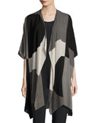 Geo Georgette Cardigan, Multi/Black, Petite