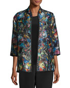 Moody Blooms Printed Easy Jacket