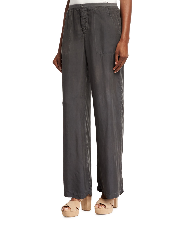 Lovise Full-Leg Pants, London Grey