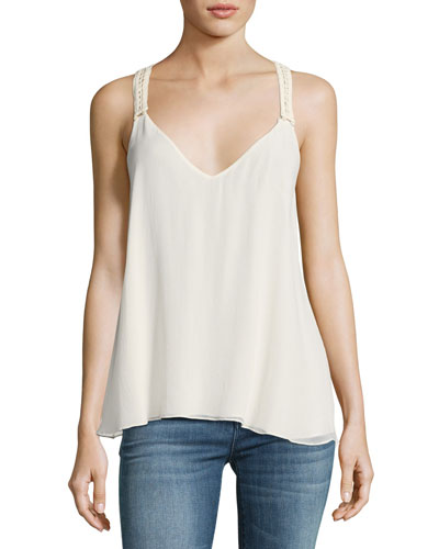 Peggy Suspender Camisole Top, Off White