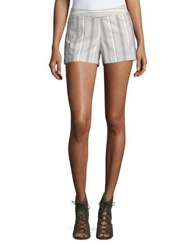 Emily Striped Poplin Shorts, Multi