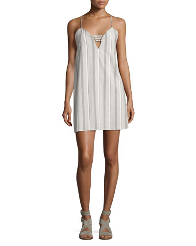 Shirting Stripe Camisole Dress, Blue