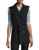 Cruiser Double Breasted Vest, Black
