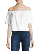 Sylvia Off-the-Shoulder Top, White