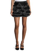 Ruffled Georgette Miniskirt