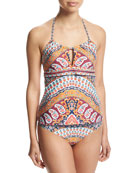 Super Fly Paisley Honey Tankini Swim Top, Multi