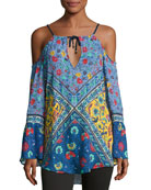 Woodstock Off-the-Shoulder Tunic, Multi