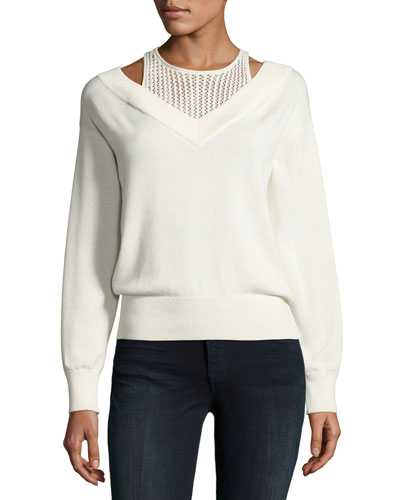Deep V Sweater with Inner Tank